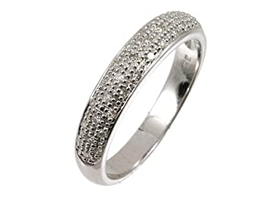 Ariel 9ct White Gold Diamond Eternity Ladies Ring