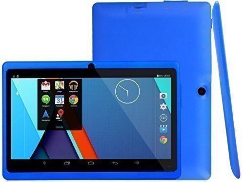 Omgar Ultrathin 7 inch 16GB Tablet PC,HD 1024*600, Google Android 4.4 OS, Allwinner A33 1.3GHz,Quad Core CPU,Dual Camera,Wifi (Navy blue)