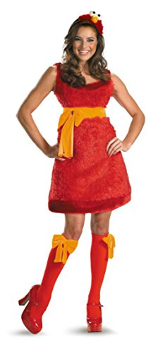 Disguise Womens Sesame Street Elmo Party Fancy Dress Halloween Costume