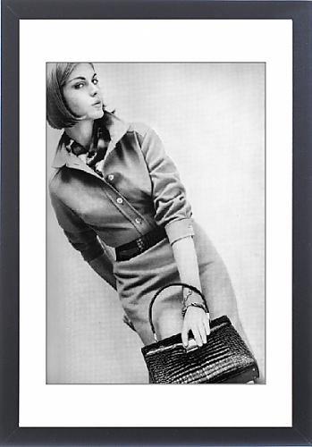 Framed Print of Shirtwaister dress, 1962