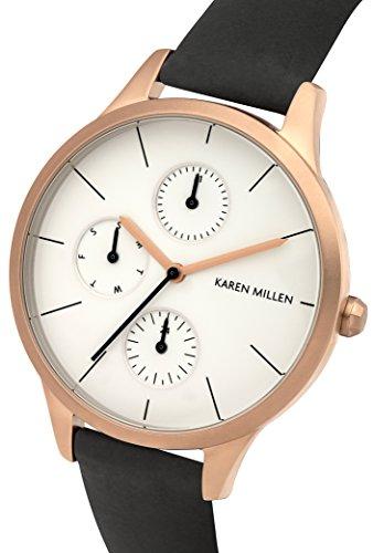 Karen-Millen-Damen-Armbanduhr-Analog-Quarz-Leder-KM144BRG