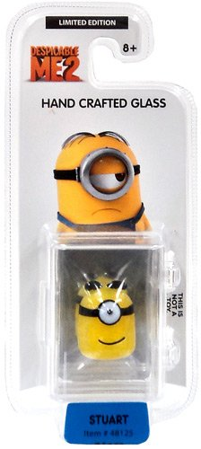 Despicable Me 2 Glassworld minion Hand Crafted Glass - Stuart - 1