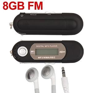 Black 8GB LCD Mini MP3 WMA Player FM Radio USB Flash Drive