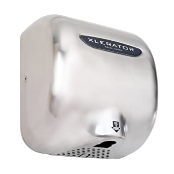 "XLERATOR XL-SB Automatic Surface-Mounted Hand Dryer with Brushed Stainless Steel Cover, 12-11/16"" Height x 11-3/4"" Width x 6-11/16"" Depth"