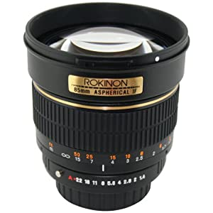 Rokinon 85M-P 85mm F1.4 Aspherical Lens for Pentax