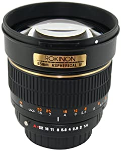 Rokinon 85M-P 85mm F1.4 Aspherical Lens for Pentax (Black)