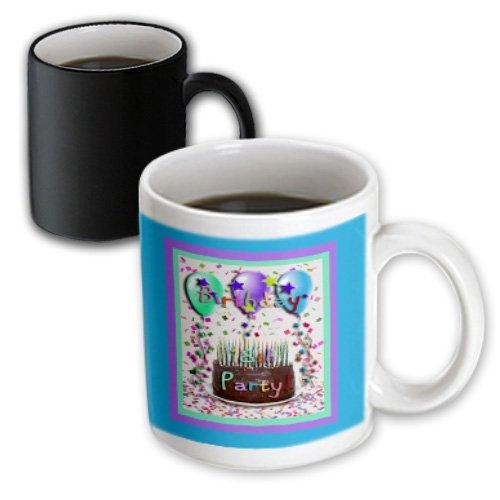 Mug_22415_3 Beverly Turner Birthday Invitation Design - 18Th Birthday Party Invitation Chocolate Cake - Mugs - 11Oz Magic Transforming Mug