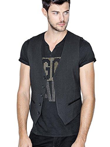 GUESS Mens Evans Pinstripe Vest