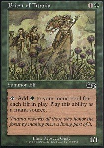 Magic: the Gathering - Priest of Titania - Sacerdote di Titania - Urza's Saga