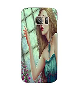 SAMSUNG GALAXY S7 EDGE BEAUTIFUL GIRL Back Cover by PRINTSWAG