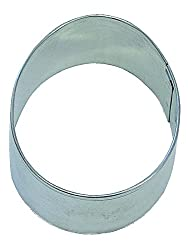 R&M Easter Egg 2.5 Cookie Cutter in Durable, Economical, Tinplated Steel