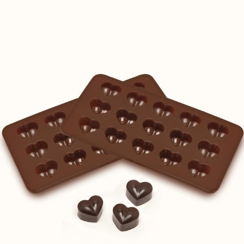 Cheap Sorbus® Heart Shaped Silicone Mold for Chocolate, Jelly and Candy - 15-piece Per Mold (Set of...