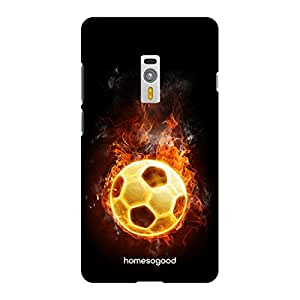 HomeSoGood Football With Fire Multicolor 3D Mobile Case For OnePlus 2 (Back Cover)
