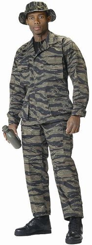 Camouflage Military BDU Pants, Army Cargo Fatigues (Tiger Stripe Camouflage, Size Large) Tiger Stripe Camouflage Shorts