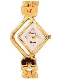 GATTS Fancy Bracelet White Dial Style Stainless Steel Belt WOMEN'S Watch (Gold)