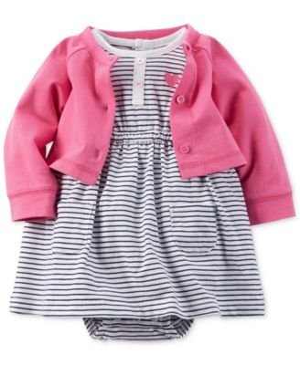 carters-baby-girl-dress-with-attached-bodysuit-and-cardigan-sweater-set-100-cotton