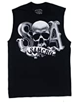 Beveled Skull Logo - Sons Of Anarchy Muscle Tee: Adult 2XL - Black