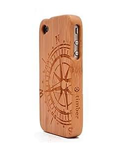Otimber Compass Engraved BambooWood iPhone 4/4s Wood Case