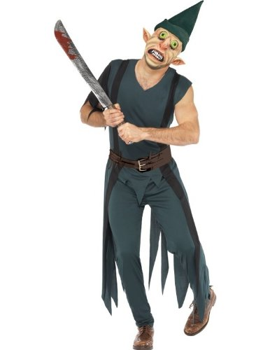 Smiffy's Men's Freaky Peter Costume with Top Trousers Mask Hat and Belt