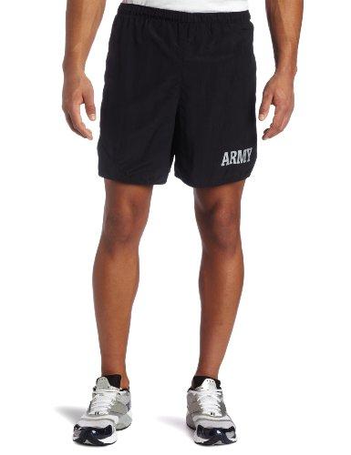 Soffe Mens US Army PT Short,Black,Small
