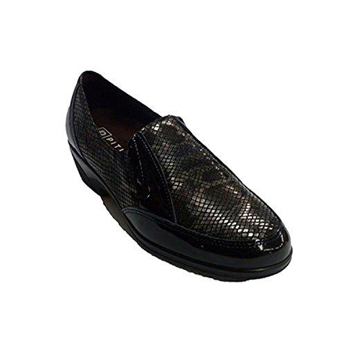 scarpe donna pala serpente simula LICRA disegno Pitillos nero taille 36