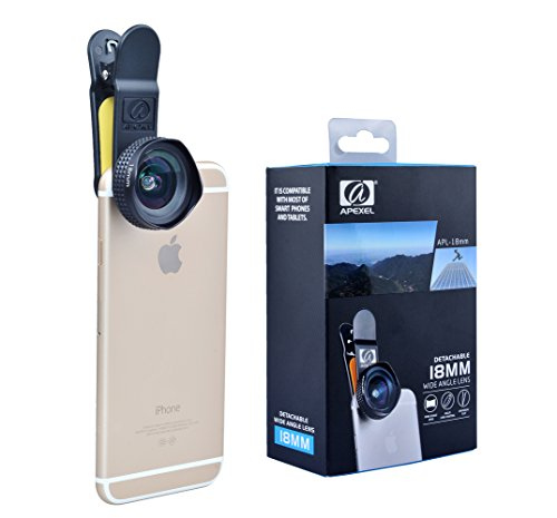 Apexel-Universal-Professional-HD-18mm-Wide-Angle-Camera-Lens-Kit-for-iPhone-66s-6Plus6s-Plus-55s-Samsung-Galaxy-S7S7-Edge-S6S6-Edge-S5-S4-Note-5-4-3-HTC-Sony-LG-No-Distortion-No-Dark-Corner