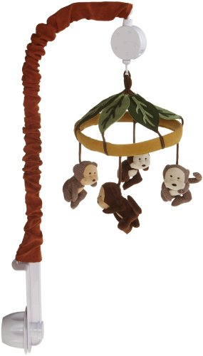 Carter's Monkey Bars Musical Mobile, Chocolate