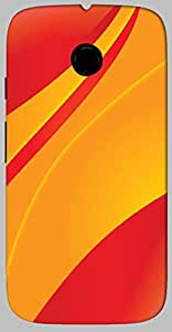 Timpax protective Armor Hard Bumper Back Case Cover. Multicolor printed on 3 Dimensional case with latest & finest graphic design art. Compatible with only Motorola Moto - E-2- 2nd Gen. Design No :TDZ-21162