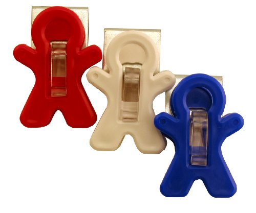 Adams Manufacturing All-American Magnet Man Clip, 3-Pack (American Fridge Magnet compare prices)