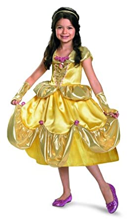 Belle Shimmer Deluxe Costume - Medium (7-8)