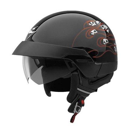 Scorpion EXO-100 Spitfire Orange Large Open Face Helmet