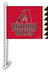 Arizona Diamondbacks Car Flag W/Wall Brackett Set Of 2 - Car Flag Diamondbacks
