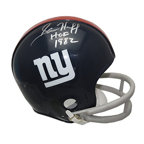 Sam Huff Autographed New York Giants Mini Helmet Hall of Fame 1982
