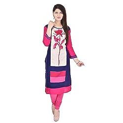 Style N shades Printed Pink&Blue Colour Kurti