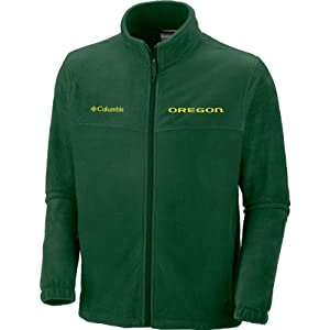 NCAA Oregon Ducks Mens Collegiate Flanker II Full Zip Fleece Sweater by Columbia