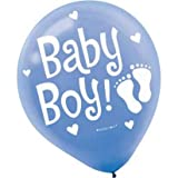 Baby Boy Blue 12in Balloons 20ct