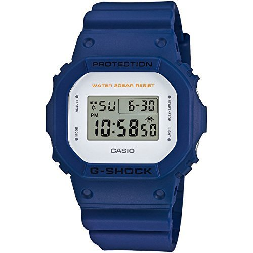 カシオ ジーショック DW5600M Military Color Series Blue Watch DW5600M-2 Digital Timer Stopwatch [並行輸入品]