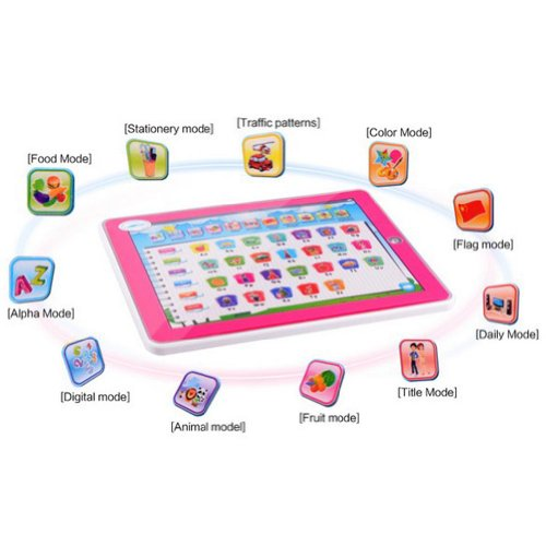 Xhaiz Y-Pad Ypad Pink Color English Computer Table Learning Education Machine Tablet Toy Gift For Kids Children