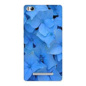 Cute Blue Flower Bush Back Case Cover for Xiaomi Mi4i