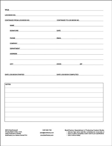 BookFactory® Beneficiary Log Book - 120 Page, 8.5x11, Hardbound (XLog-120-7CS-A-L-Main(Beneficiary Log Book)) генрик ибсен дика качка page 11