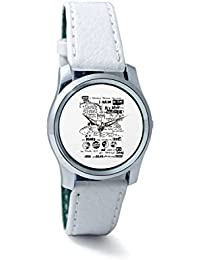 BigOwl Psychedelic Reality Painting Women's Analog Wrist Watch 2114874536-RS2-S-WHT