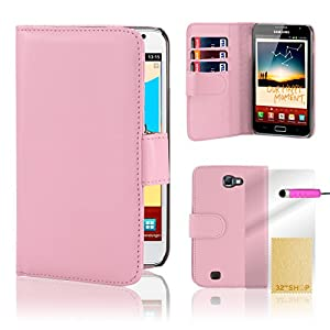 Book wallet PU leather case cover for Samsung Galaxy Note N7000 (i9220