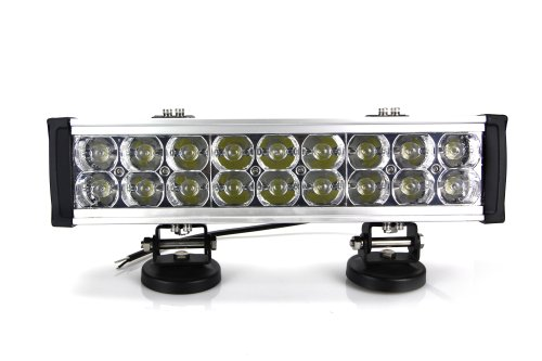 "Lite Wheels Double Row 15"" 54W Led Light Bar For Mining Boat Bus"