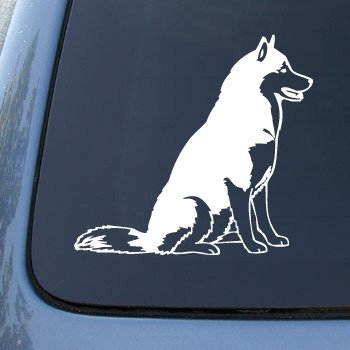 SIBERIAN HUSKY - Dog - Vinyl Car Decal Sticker #1560 | Vinyl Color: White (Husky Decal compare prices)