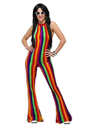 [Fun Costumes womens Womens 70's Disco Jumpsuit Large] (70s Jumpsuit Costumes)