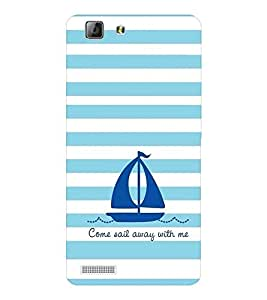 EPICCASE Sail With Me Mobile Back Case Cover For LENOVO A6600 (Designer Case)