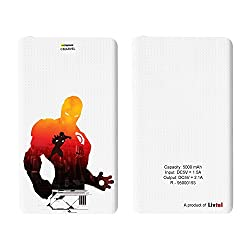 Hamee Livtel x Hamee Marvel Licensed Avengers 5000 mAh PowerBank with LED indicators and Reversible Micro-USB cable (Iron Man / Shadow)