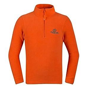 Tectop - Sweater-shirt enfants Polaire Veste manches longues Unisexe Hiver - 11-12ans - Orange