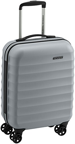 American Tourister Palm Valley Spinner 55/20, Bagaglio a mano, Litri 32, Metallic Silver