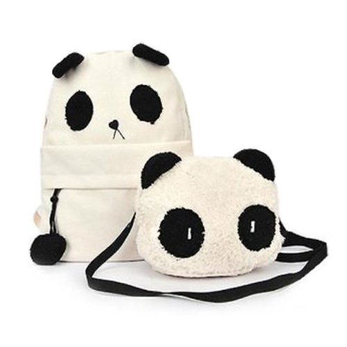 DMtse-New-Fashion-Cute-Panda-Schoolbag-Backpack-Shoulder-Bag